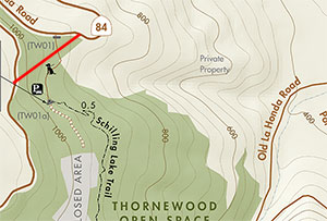 Approximate area of PG&E tree removal