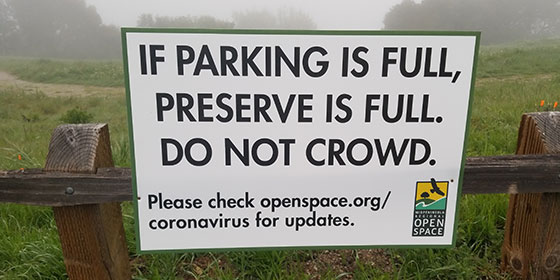 If parking is full preserve is full. Do not crowd.