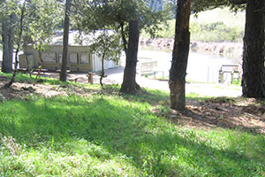 Midpen annually maintains defensible space around our structures including the Daniels Nature Center in Skyline Ridge Preserve.