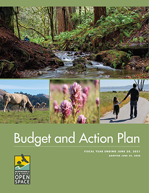 Midpen Annual Budget report cover