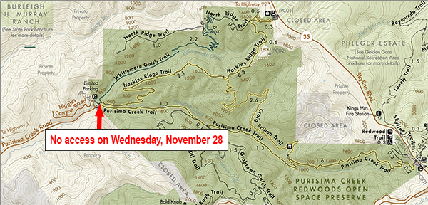 Trail closure 11/28/18