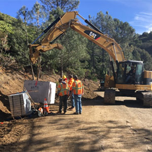 Road improvements on Mt. Umunhum Road