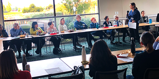 Attendees at the first Environmental and Sustainability Thrive Action Group in October 2019