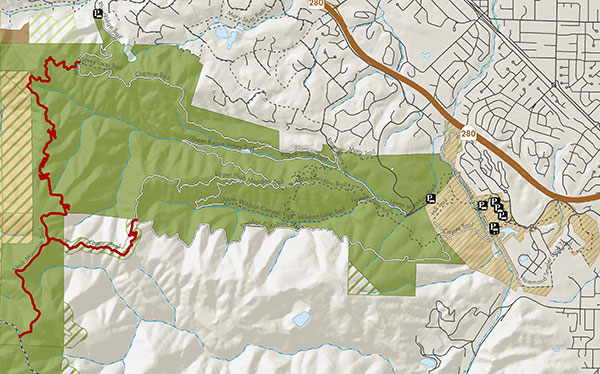 Trails closed due to mountain lion encounter.