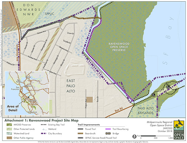 Ravenswood Bay Trail project site map