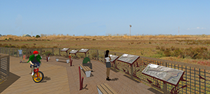 Visual simulation of boardwalk overview