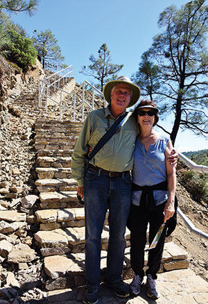 General Manager Steve Abbors and his wife Carlene at Mount Umunhum