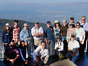 International conservation leaders at Mount Umunhum