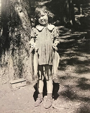 Nonette in the Sierras as a child