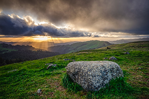 2017 photo contest finalist Eric Colton captured this sunset in Russian Ridge Open Space Preserve.