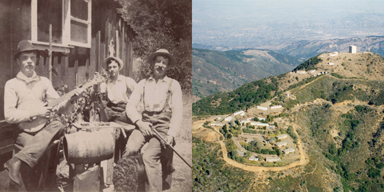 A Mountain of Stories. Left photo courtesy of Hooked on Los Gatos - Library and Museum History Project
