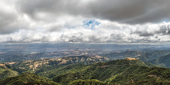 Breathtaking views are visible from the summit of Mount Umunhum. Photo by Nate Donovan.
